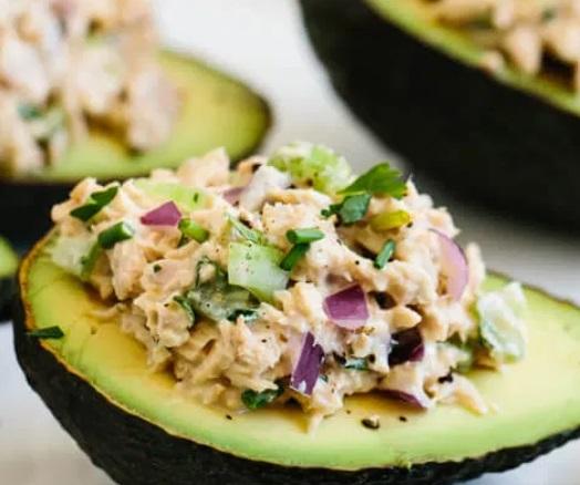 Canned mackerel avocado boat recipe