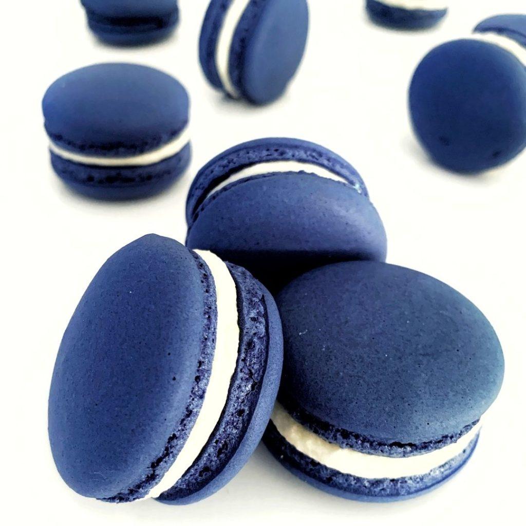 Blue Foods - Blue Macarons