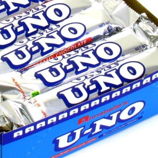 Foods that start with U - U-NO Chocolate Bar