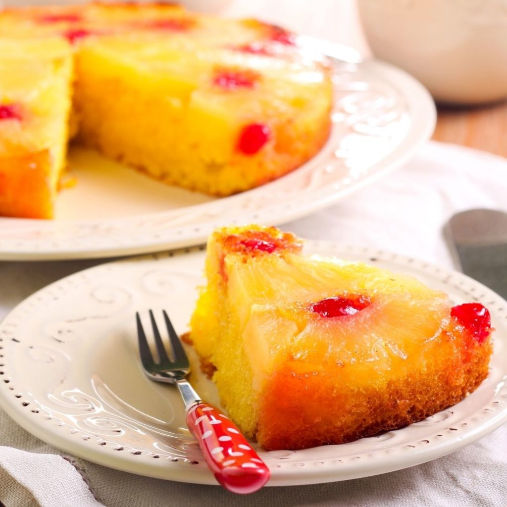 Foods that start with U - Upside-Down Cake