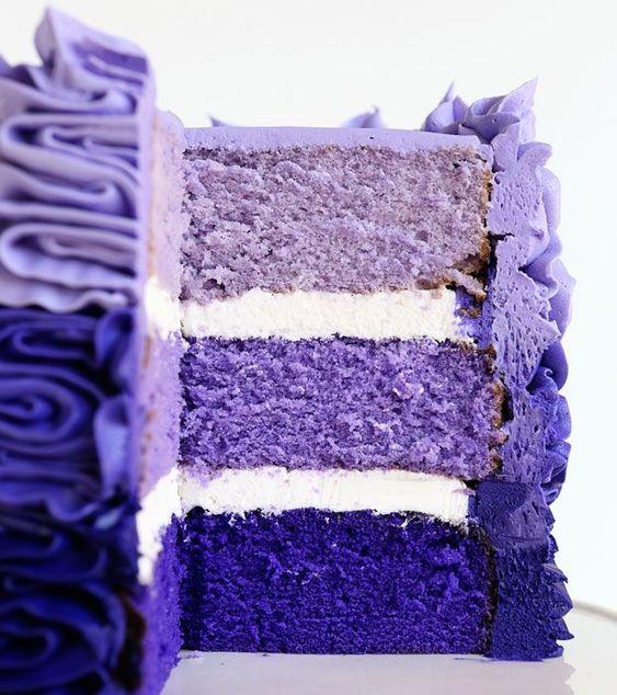 Purple Foods - Purple Ombre Cake