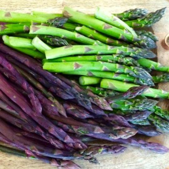 Purple Foods - purple asparagus